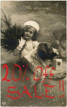 Vintage French Christmas Girl with Dog Postcard ~ The Graphics Fairy Vintage Humor, Vintage Abbildungen, Album Vintage, Photo Vintage, Vintage Postcards, Dog Christmas Pictures, Vintage Christmas Photos, Christmas Dog, Christmas Humor