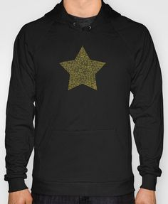 """""""Black and golden zentangles"""" Hoody by Savousepate on Society6 #hoody #pullover #clothing #pattern #abstract #zentangles #doodles #scrolls #gold #black #star"""