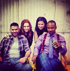 Scandal: Guillermo Diaz, Darby Stanchfied, Katie Lowes, and Columbus Short.