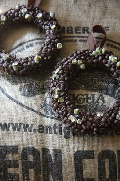 wreath of coffee beans, great for a Kitchen or Dining-room