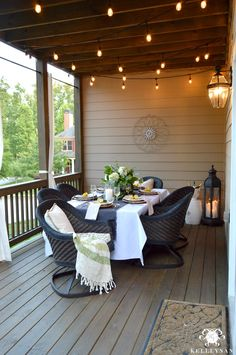 If you are prepping your outdoor space for spring and summer, here's some inspiration with a porch makeover and a relaxing date night on the deck!
