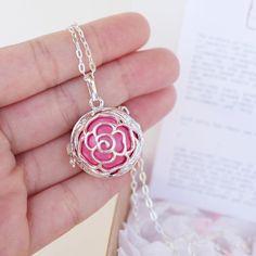 Angel caller rose pink Maternity necklace Pregnancy by petitesalu, $40.00
