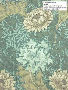 Historic Style - Chrysanthemum by William Morris