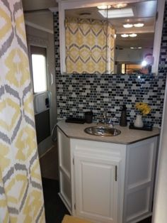 Camper Travel Trailer RV Remodel (2), My parents gave us their old travel trailer...now they want it back!, Bathroom after, Other Spaces Des...