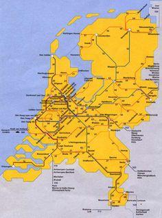 Dutch railway map