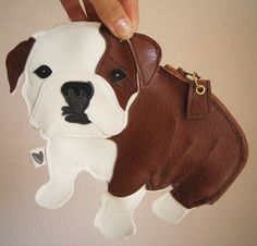 Boris the English Bulldog Cute Vintage Inspired Brown by Cuore, $38.00