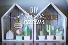 DIY little cactus Diy Projects To Try, Diy Crafts For Kids, Home Crafts, 3d Templates, Origami, Papier Diy, Deco Kids, Cactus Y Suculentas, Cactus Print