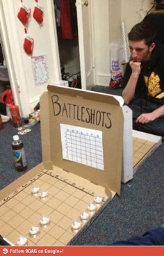 Student Board Games -- Battleshots...game for bar party...whoo hoo!!!