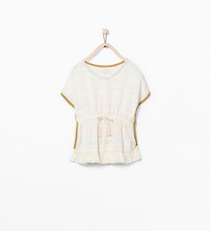 Image 1 of Frayed hem poncho from Zara