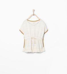 Image 1 of Frayed hem poncho from Zara