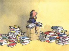 Ilustración de Quentin Blake para la obra Matilda, de Roald Dahl.
