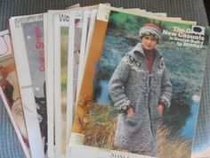 LOT OF 15 KNITTING Patterns Afghans, Sweaters #Various