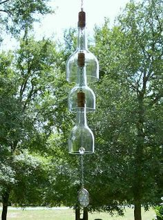 DIY Wine Bottle Wind Chimes