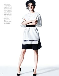Jessica Stam By Victor Demarchelier for Vogue Japan February 2013 #editorial #fashion #studio