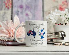Distance Means So Little Long Distance mug £15.99 Long Distance Mugs, Make A Mug, Goodbye Gifts, Uk Images, China Mugs, Ceramic Mugs, Mug Designs, Thoughtful Gifts, Mother Gifts