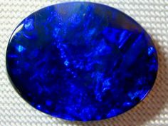 Royal Blue Lightning Ridge Opal...Beautiful  Gem! I love the pattern...!  ID: GLO-058 www.globalopals.com