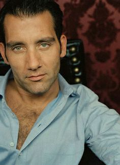 "Clive Owen, British actor known for his intense expressions and very green eyes. He is in one of my favorite films ""King Arthur""."