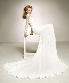 Featured Wedding Dress: Pronovias; www.pronovias.com; Wedding dress idea.