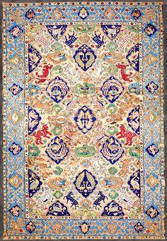 Persian carpet silk, 16th century
