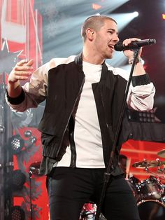 Singer Nick Jonas performs onstage during the Jingle Ball concert on Dec. 16, 2015, in Chicago.  Tasos Katopodis, Getty Images for iHeartMedia