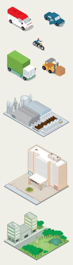 Pictorama® (www.pictoramadesign.com.br) Ilustração isométrica para treinamento corporativo em segurança do trabalho. Cliente: Spin Design #props #isometric #illustration #infographics