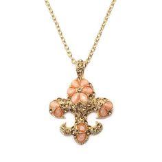 Golden Fleur De Lys 28 Inch Necklace