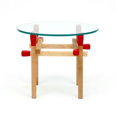 Matchstick Round Table Red