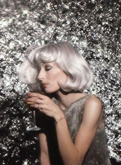 Anjelica Huston at Studio 54, 1974