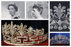 The Spencer Honeysuckle tiara , from Princess Diana's family , both Countesses Spencer are shown wearing it .