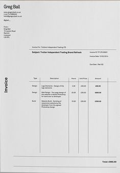 layout of an invoice nice invoice! Layout Design, Gfx Design, Invoice Design, Letterhead Design, Invoice Template, Graphic Design Layouts, Print Layout, Graphic Design Posters, Page Design