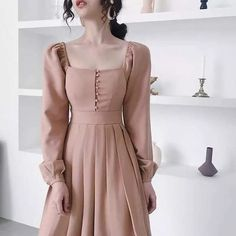 119 ideas about the black dresses make us look simple and elegant – page 3 Mode Outfits, Dress Outfits, Dress Up, Dress Casual, Dress Long, 80s Dress, Casual Outfits, Winter Outfits, Emo Dresses