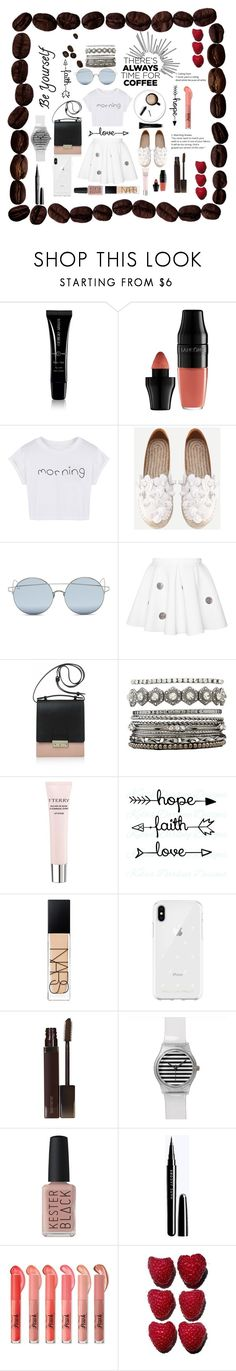 """""""Untitled #125"""" by aluin ❤ liked on Polyvore featuring Giorgio Armani, Lancôme, WithChic, For Art's Sake, Joanna Maxham, Charlotte Russe, By Terry, NARS Cosmetics, Rebecca Minkoff and Laura Mercier"""
