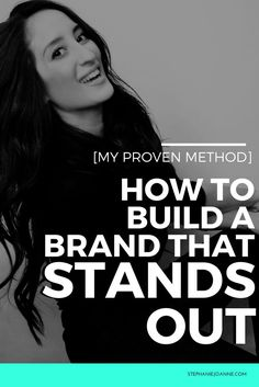 my proven method to build a brand that STANDS OUT form the crowd #branding