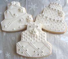 Winter Wonderland Wedding Cake Cookies - 4.00 each