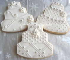 winter wedding cake cookies :)