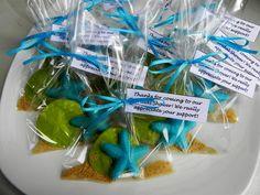 SEASHELL Chocolate Favor Bags (12) - MERMAID Favors/Under the Sea/Beach Wedding