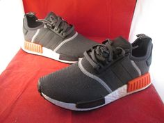 Adidas NMD R1 Grey Bright Crimson