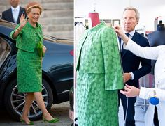Queen Paola of Belgium dress by Natan
