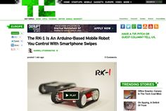 http://techcrunch.com/2013/06/06/the-rk-1-is-an-arduino-based-mobile-robot-you-control-with-smartphone-swipes/ ... | #Indiegogo #fundraising http://igg.me/at/tn5/