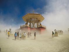 by @leahwanders Refuge from the dust storm  #brc #blackrockcity #art #nevada #bm17 #blackrockcity #blackrockdesert #burn #burner #burners #burningman #burningmanart #burningman2017 #brc #nevada #desert #sunset  #sculpture  #nevadagram