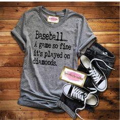 A Game So Fine Shirt, Baseball Mom Shirts, Funny Baseball T-Shirt, Baseball Fan Shirt, Gift for Her, Baseball Tank, Softball T-Shirt, Womens