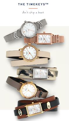 """Your won't """"Skip a Beat"""" with these wonderful Timekeys from Keep Collective.  Keep Collective Design Guide Spring Summer 2016.  #Watches #Jewelry #CharmsByJill"""