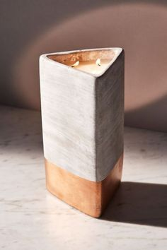 Paddywax Triangular Concrete Candle | Urban Outfitters Canada