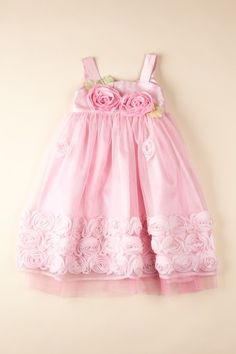 Pink, flowered Flower Girl dress.
