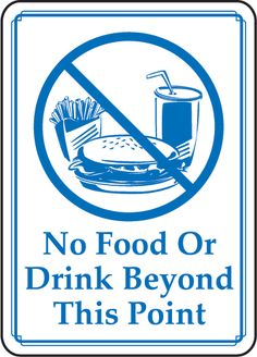 food drink sign signs drinks signage printable point beyond bathroom church allowed water order area except safety print today safetysign