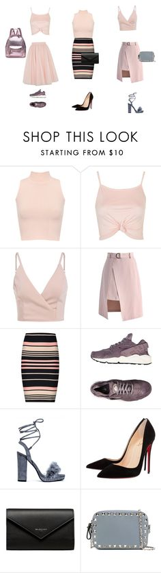 """Untitled #125"" by abarzani-1 ❤ liked on Polyvore featuring WearAll, Topshop, Ted Baker, Chicwish, Miss Selfridge, NIKE, Christian Louboutin, Balenciaga and Valentino"