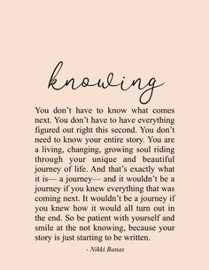 Motivational Quotes For Women Discover Knowing x 11 Print Knowing Quote & Poetry - Nikki Banas Walk the Earth Soul Love Quotes, Motivacional Quotes, Wisdom Quotes, Great Quotes, Words Quotes, Wise Words, Quotes To Live By, Inspirational Quotes, Qoutes