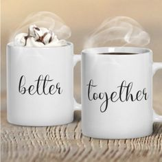 Coffee Mugs for Sweethearts & Couples from Koffee Kingdom and @Sylvestermouse.