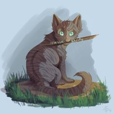 Jayfeather and his stick MY STICK!!!!!!!!!!!!!!!!!!!!!!!!!!!!!!!!!!!!!!!