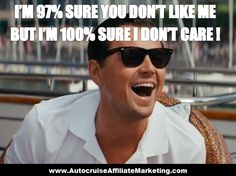 I'M 97% SURE YOU DON'T LIKE ME BUT I'M 100% SURE I DON'T CARE !  Read more at : https://www.facebook.com/AutocruiseAffiliateMarketing/photos/a.1027564760656726.1073741831.828732047206666/1074498689296666/?type=3&theater